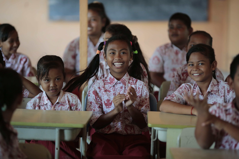 School girls 4 Bawah Anambas FOundation English Classes