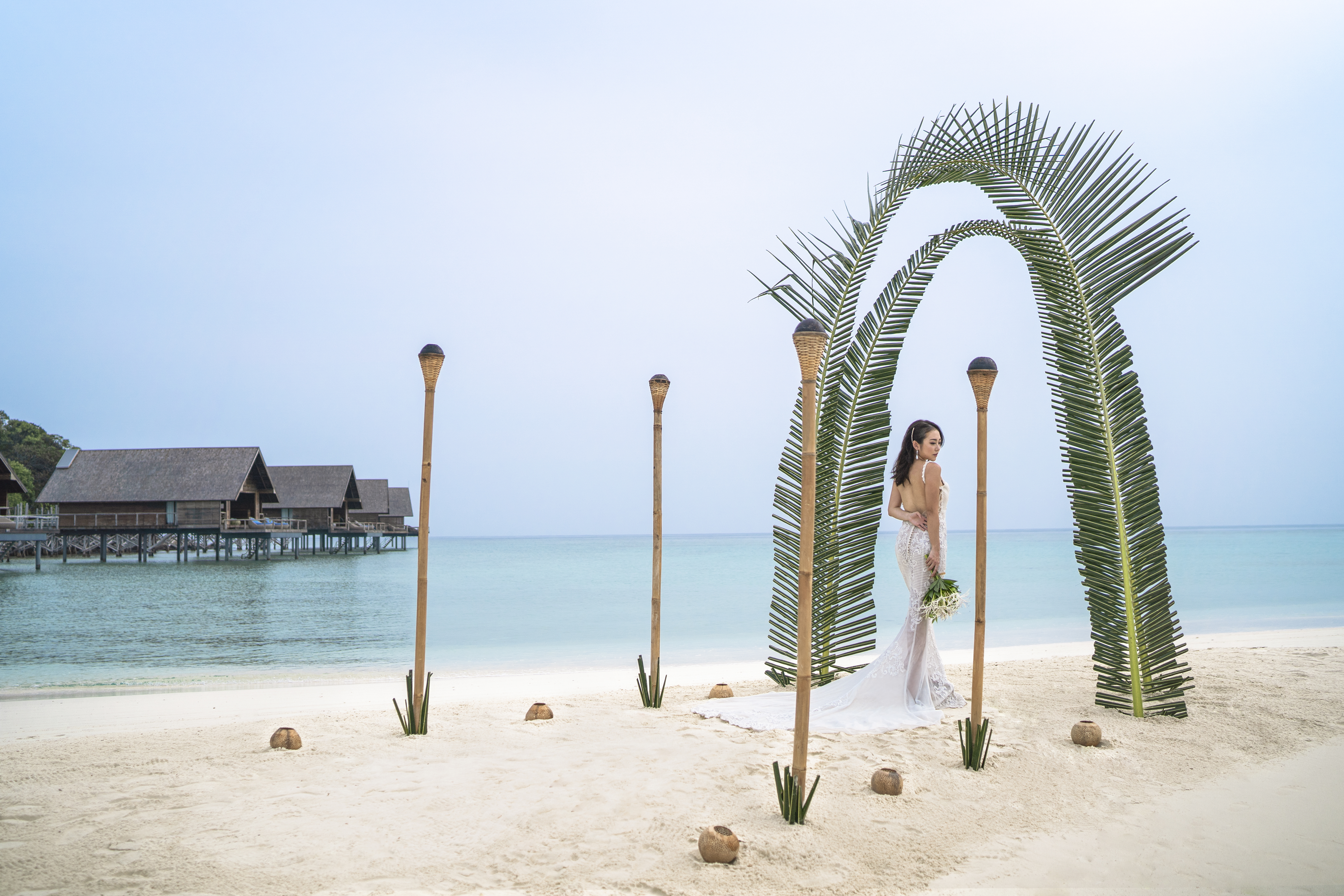 beach_wedding_dress_palm_arbor