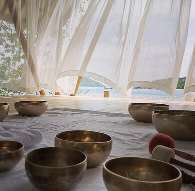 Singing Bowls at the wellbeing centre Aura