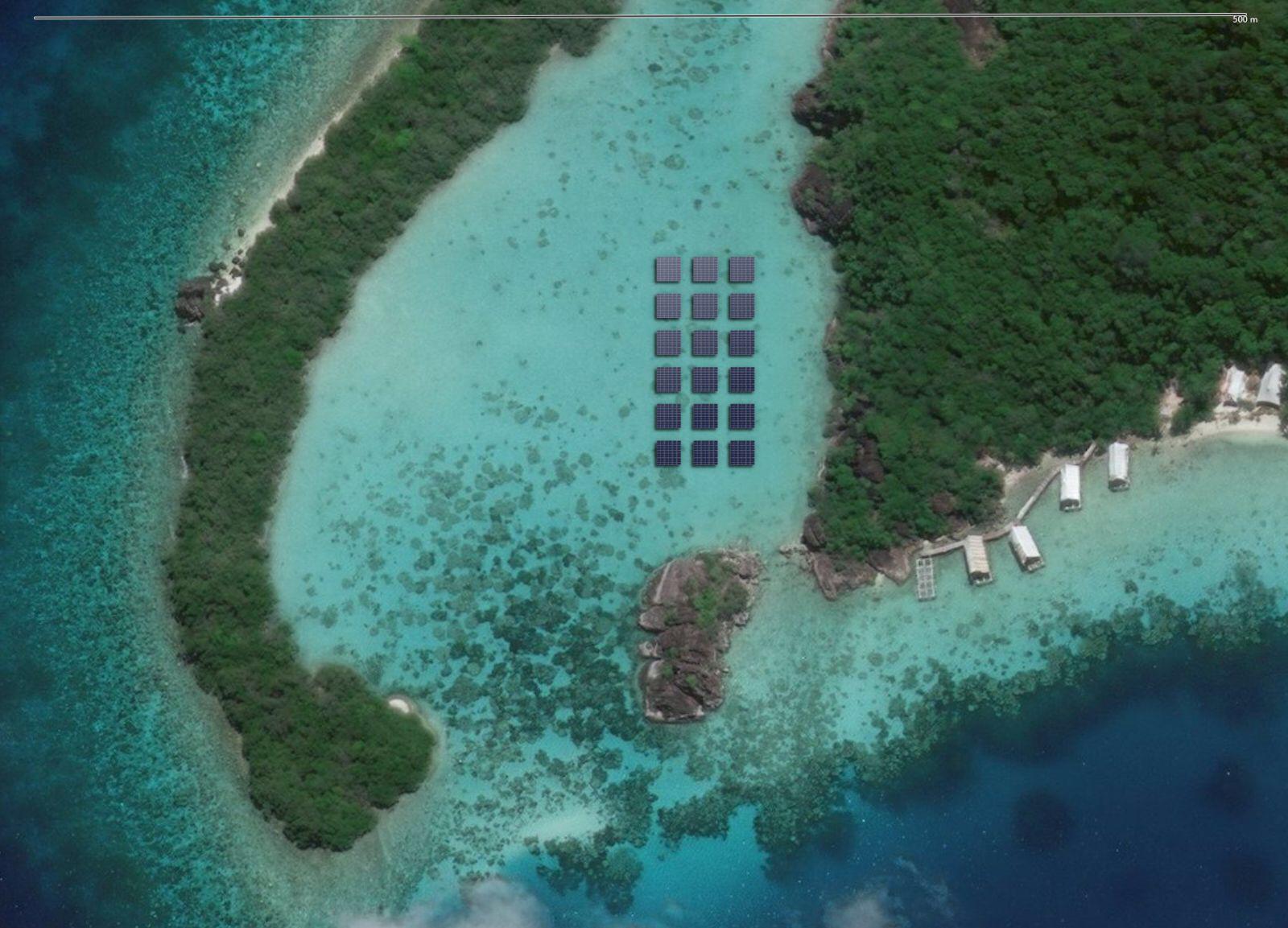 solar panels sea bawah