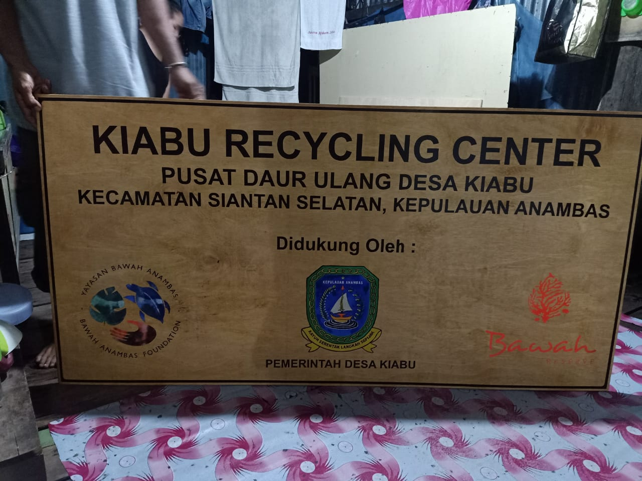 Recycling Center signage