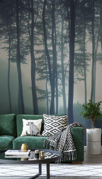 Sea of Trees Forest Mural Wallpaper _ MuralsWallpaper