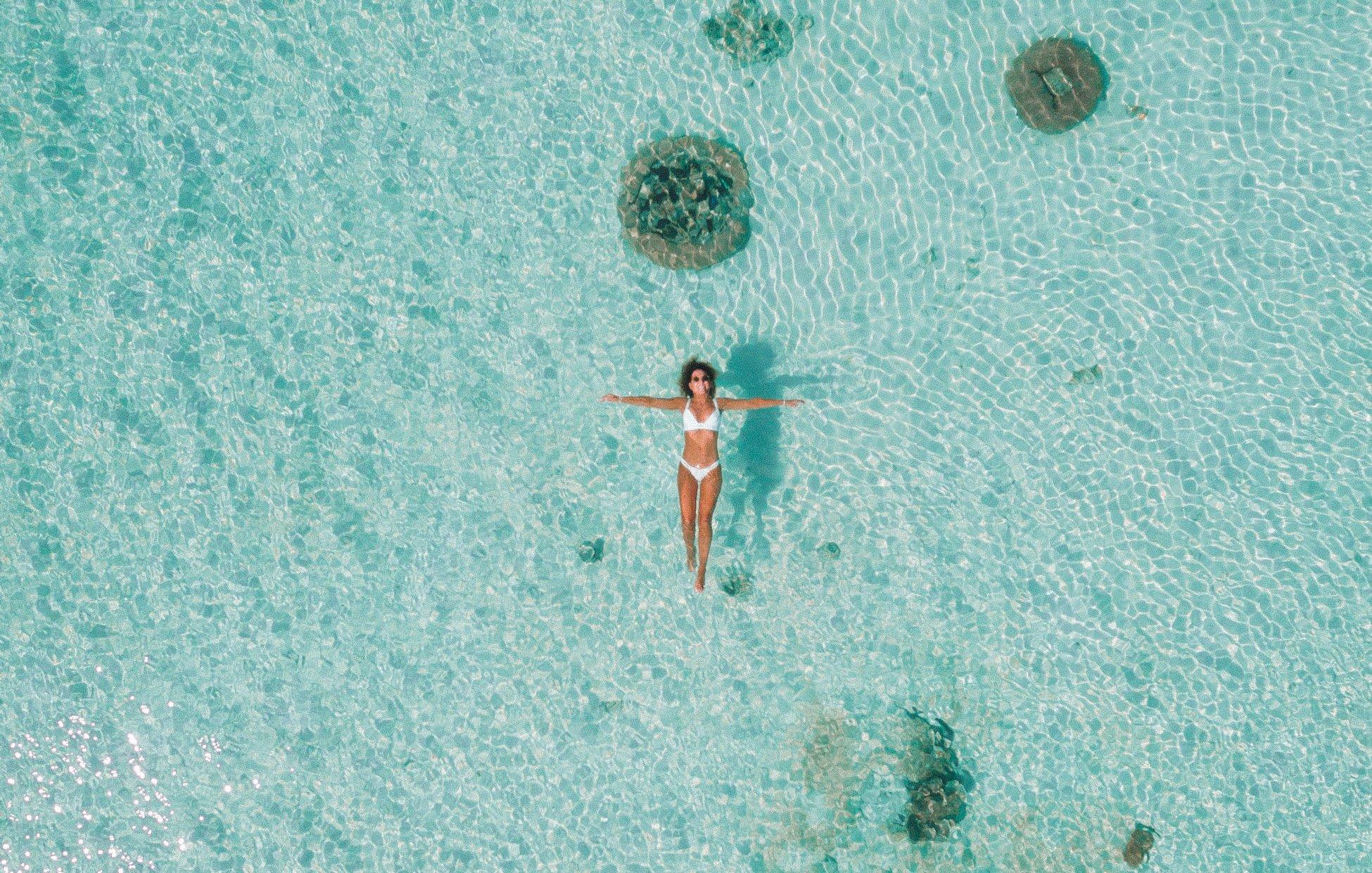 this-island-life-bawah-island-indonesia-1-8 Floating lady sea drone