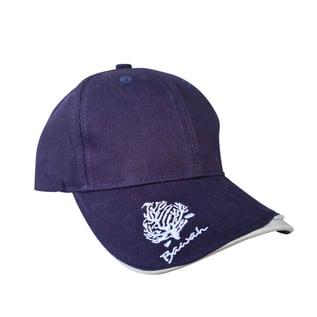 bawah-blue-golf-cap-side-view-logo