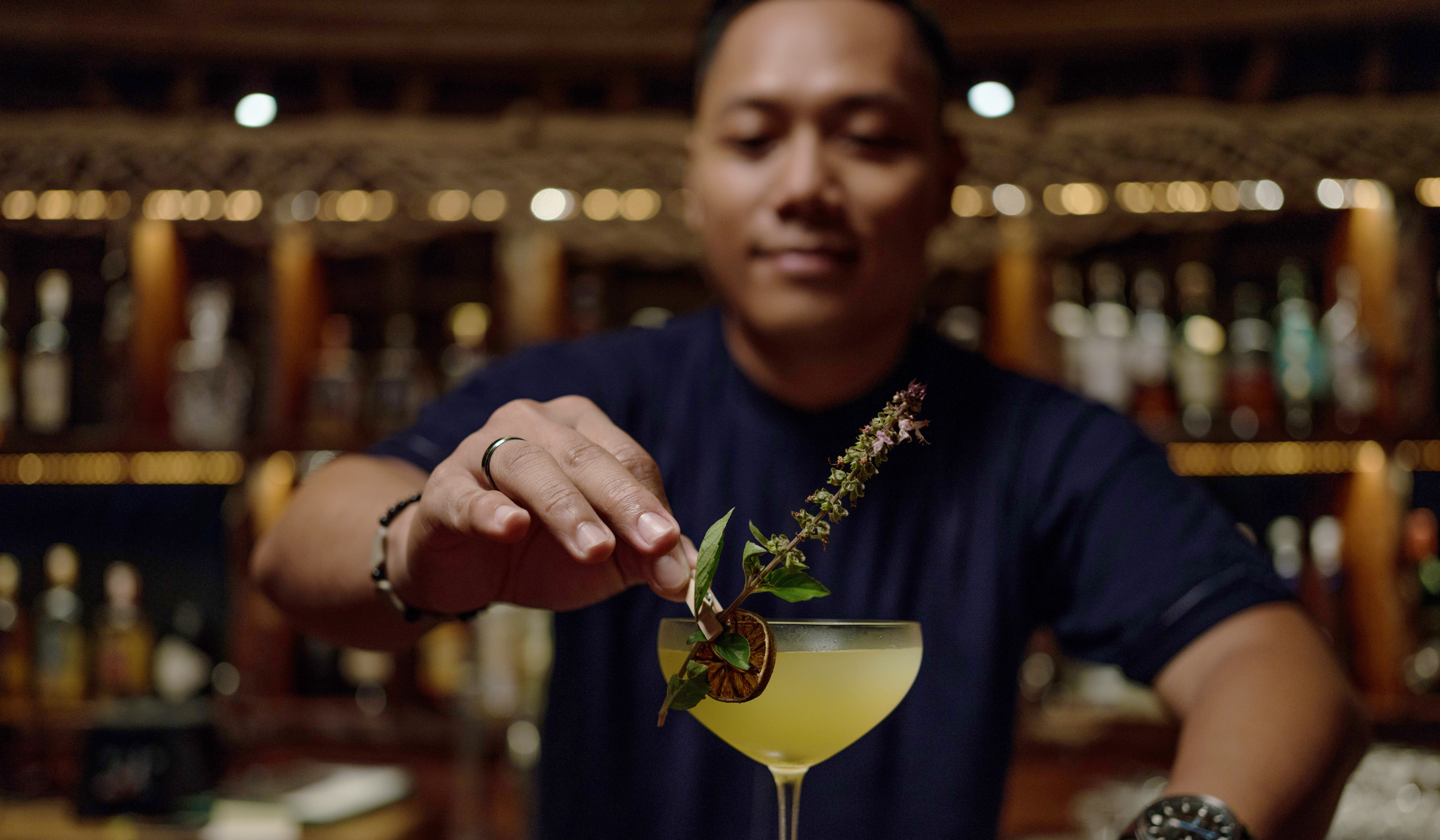 homegrown cocktail recipe from garden to glass, Bawah Reserve, Indonesia